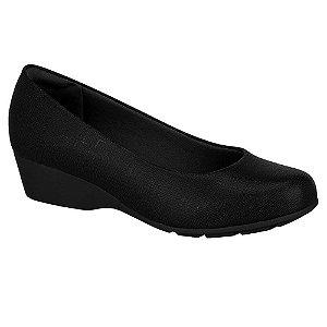 Sapato Anabela Feminino Modare Bico Redondo Preto (MM354)