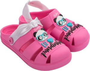 Sandália babuch luluca shine Infantil confortável rosa