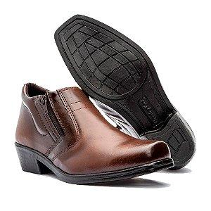 Sapato Bota Masculina Bico Quadrado Zíper Dia Dia Conforto