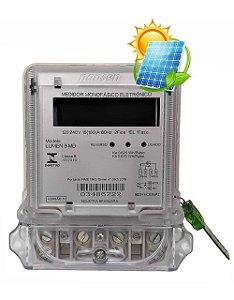 Medidor Energia Monofásico BIDIRECIONAL Nansen LUMEN 3 MD Placa Solar