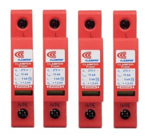 kit com 10 peças DPS 15kA Protetor Surto E Raios  Clamper VCL FRONT - 275v