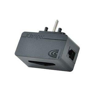 iClamper Tel Módulo Complementar RJ11 com Protetor de Raios e Surtos Elétricos - Preto