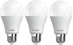Kit 03 Lâmpadas LED Bulbo A60 9W - Luz Branca Autovolt