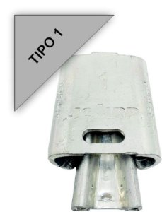 kit 100 peças Conector Tipo Cunha para Ramais de Ligação - Tipo 1