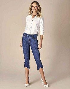 Calça Scalon Jeans Cropped Barra Desfiada