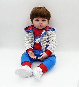 Bebê Reborn Menino Realista - Frete Grátis