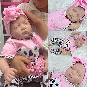 Bebê Reborn com os olhinhos Fechado - Frete Grátis