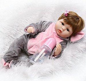 Linda bebê com Roupinha de Elefantinho - Frete Grátis