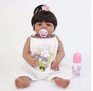 Linda Bebê Reborn Afro de 55cm - Frete Grátis