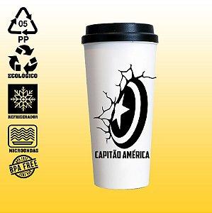 Copo Eco Bucks - Marvel - The Avengers - Capitão América - Escudo