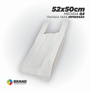 Sacola Branca (Alça Camiseta) - Tratada para impressão Silk | 50x52 - 270 Unid.