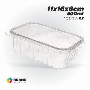 Pote Plastico - Freezer e Microondas 500ml | 24 Unid.