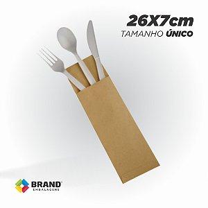 Saco Kraft Delivery - Talheres - Tamanho U | 500unid.