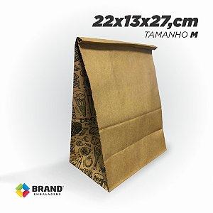 Saco Kraft Delivery - Impressão Lateral- Tamanho M | 25unid.