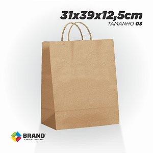Sacola Kraft - Lisa - 31x39x12,5 | 10 Unid.