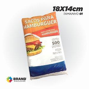 Sacos de Plásticos para Hambúrguer - Padrão | 500 unid.