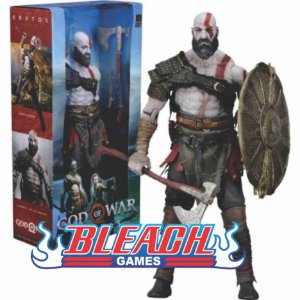 Boneco God of war kratos (original neca)