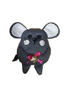 Ratinho de feltro com catnip e guizo