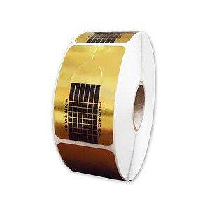 Molde para alongamento de unhas Dourado com 500 unidades