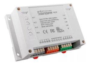 Sonoff 4ch Automação Interruptor 4 Channel Wifi Smart Switch