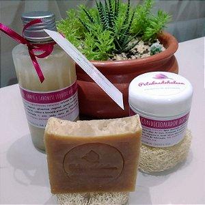 Kit banho petalasdebeleza vegano e artesanal