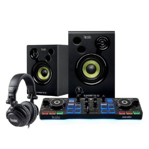 Kit Controlador Hercules DJ Starter Audifono + Caja de Som
