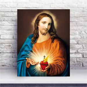 Quadro 50x40cm PVC - Sagrado Coração de Jesus