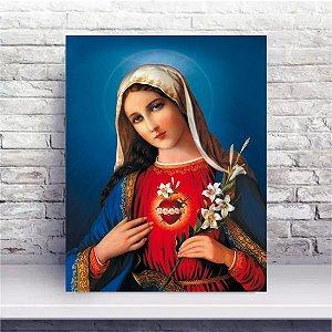 Quadro 50x40cm PVC - Imaculado Coração de Maria