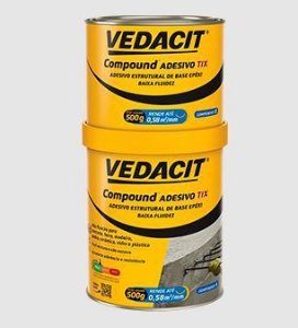 Compound Adesivo - TIX, 1 KG, VEDACIT