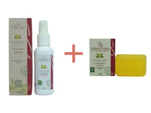1 Sabonete Vegetal Sensualidade 100g + 1  Óleo após banho e para massagem Sensualidade 120ml