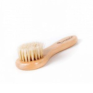 Escova facial com cerdas naturais