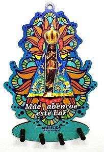 Porta Chaves Aparecida - Santa Fundo Color #05