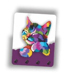 Porta Chaves | Gato | Roxo