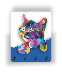 Porta Chaves | Gato | Azul