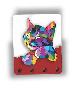 Porta Chaves | Gato | Vermelho