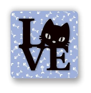 Imã em MDF | I LOVE CAT | Relevo 3D
