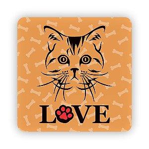 Porta Copo Magnético/Imã de Geladeira | LOVE CAT (3)