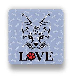 Porta Copo Magnético/Imã de Geladeira | LOVE CAT (4)