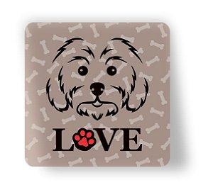 Porta Copo Magnético/Imã de Geladeira | LOVE DOG (13)