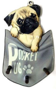 Porta Chaves | Pug no Bolso