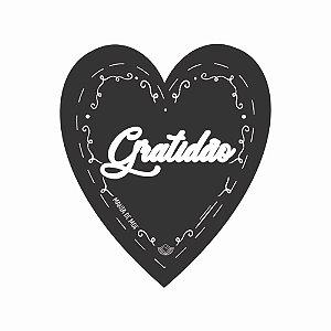 Placa Grande TAG MDF Decorativa | Formato de Coração | Gratidão