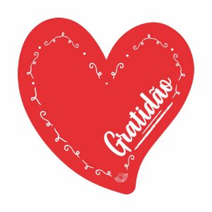 Placa Pequena TAG MDF Decorativa | Formato de Coração | Gratidão