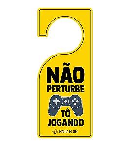 Placa TAG MDF Decorativa Para Porta | Não Pertube