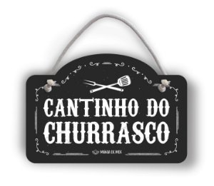 Placa Decorativa | Cantinho do Churrasco