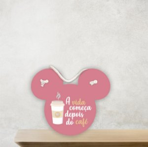 Placa Decorativa | Mouse | Café