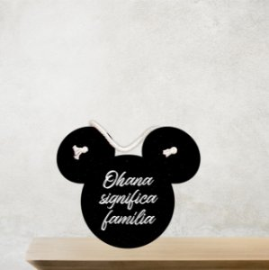 Placa Decorativa | Mouse | Ohana