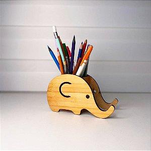 Porta Lápis e Porta Celular | Elefante