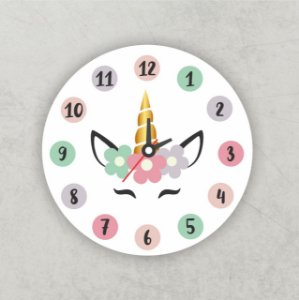 Relógio Infantil | Unicórnio