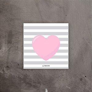 Quadro decorativo Coração | 20x20