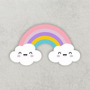 Chuva de amor | Arco íris 3D | MDF